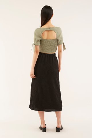 Frida Square-neck Crop Top