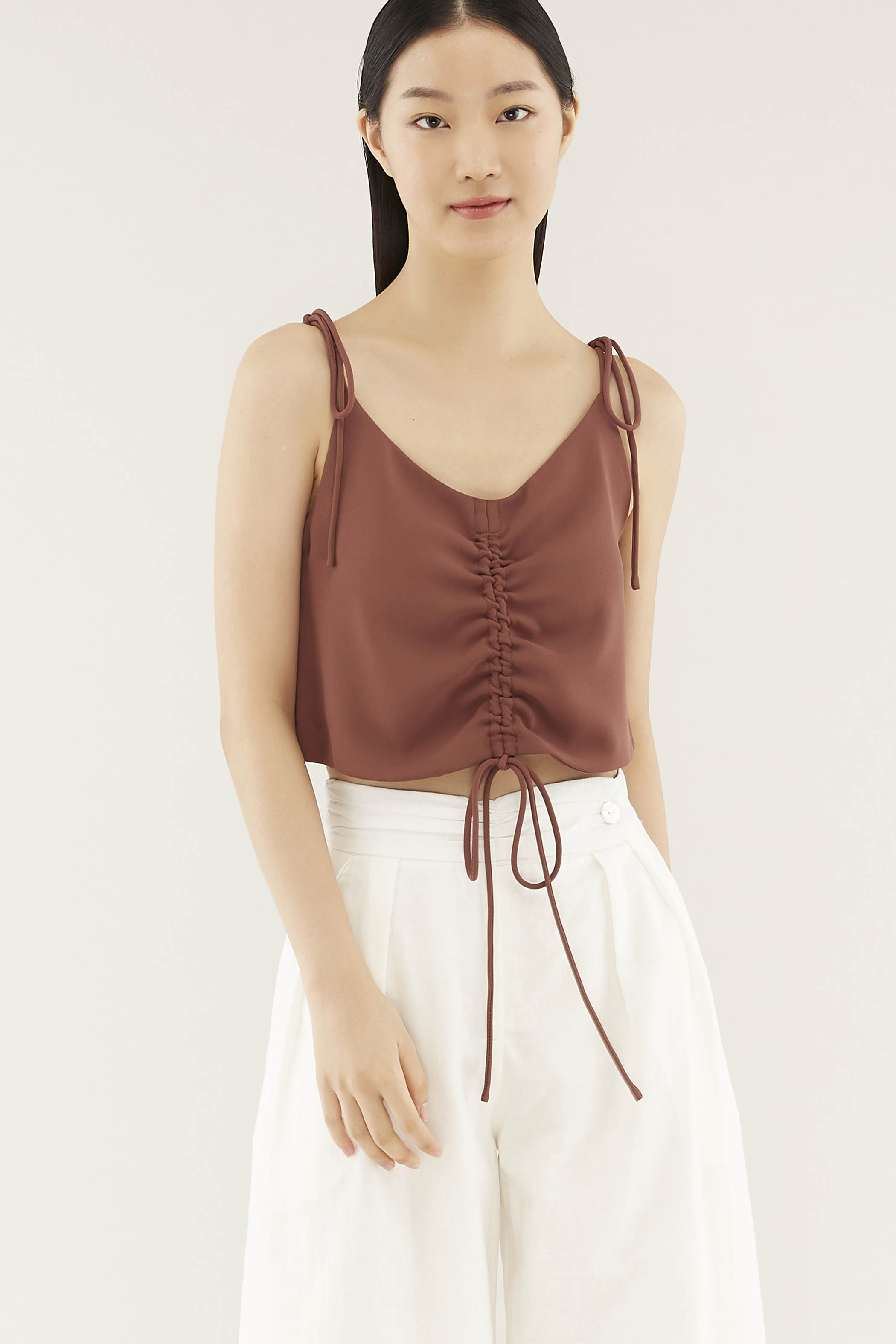 Kristy Ruched-front Top