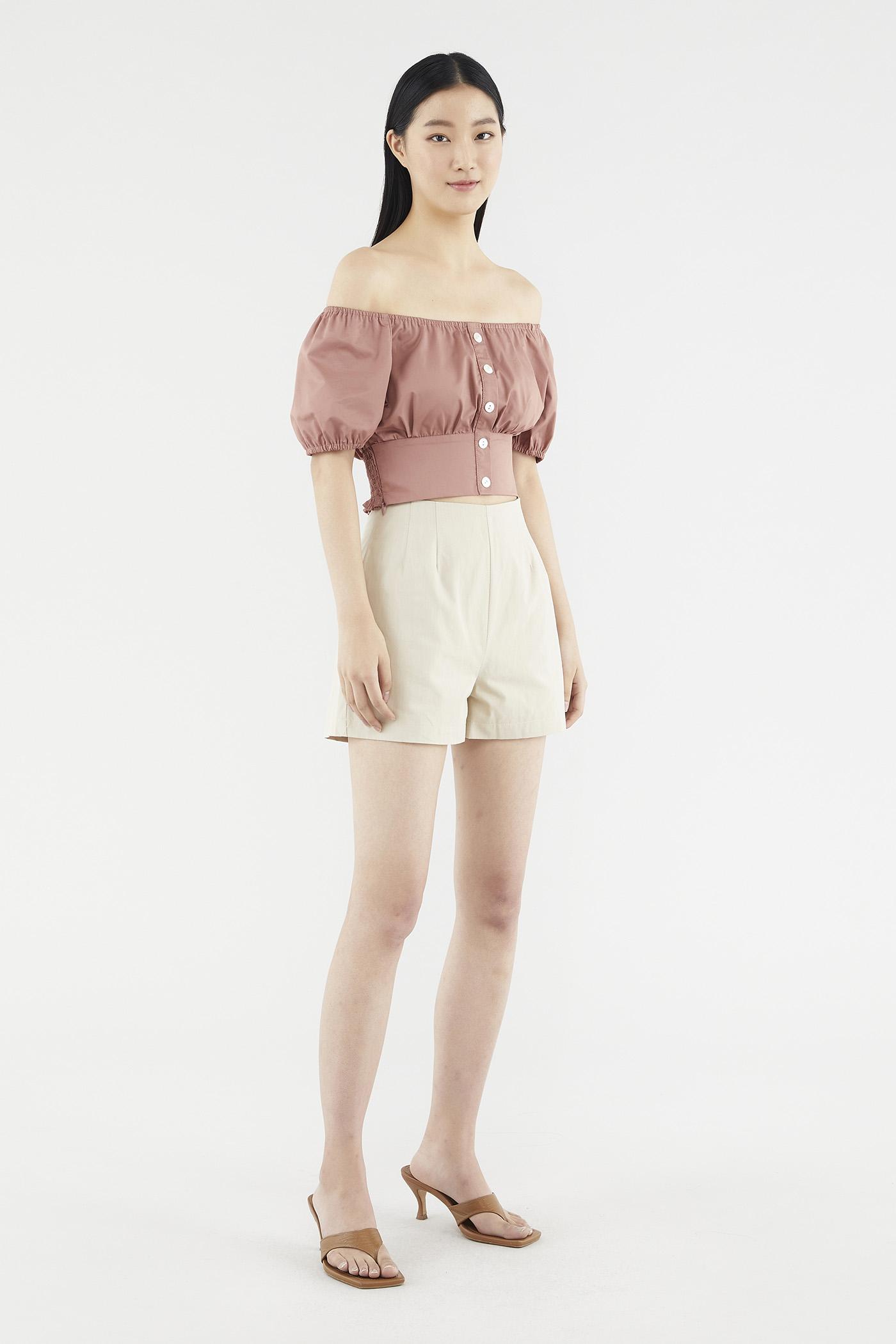 Caryse Flat-front Shorts