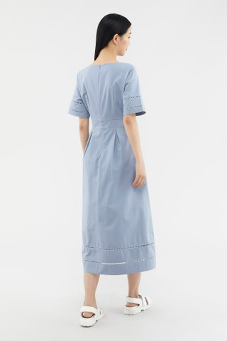 Imelda Eyelet-trim Dress