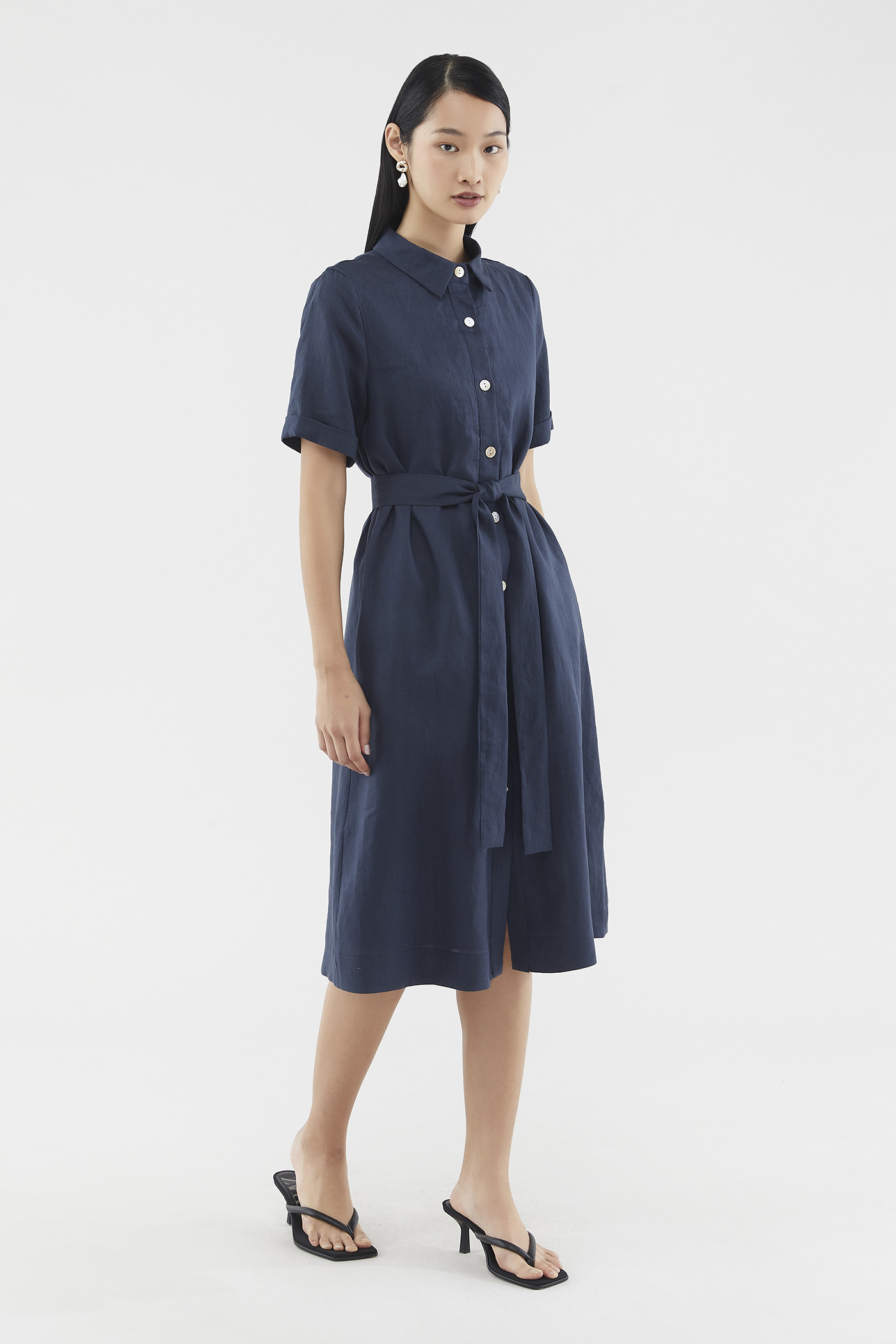 Gracelyn Linen Shirtdress